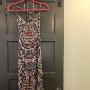 Billabong Tie Open Back Maxi Dress